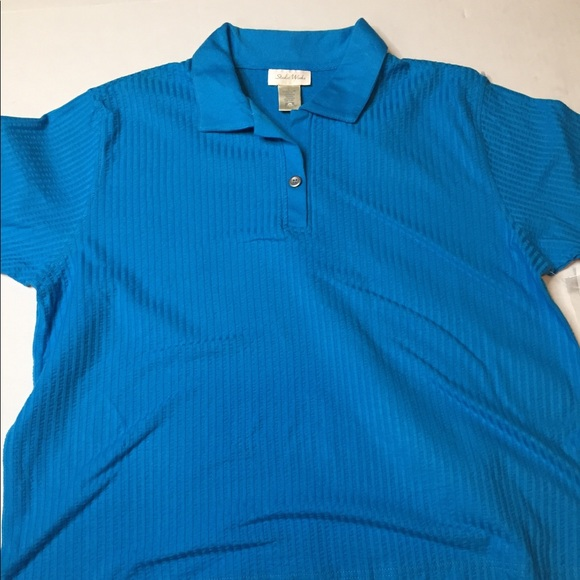 Womens Blue Studio Works Polo Shirt Sz L